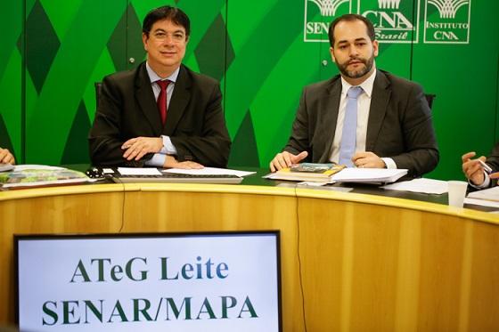 Caio Rocha, do Mapa, e Matheus Ferreira, do SENAR, coordenaram a reunião