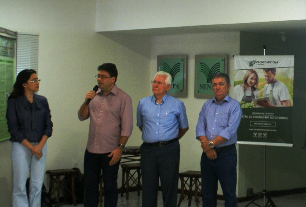 Poliana Queiroz, Sérgio Martins, Vanildo Pereira - vice-presidente da Faepa e Mário Borba