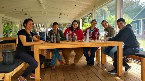 Comitiva do CNA Jovem provou os vinhos de Waiheke