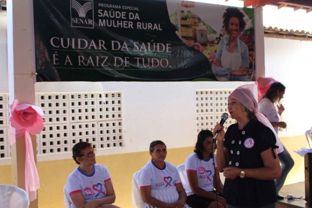 Maria de Fátima de Sousa, aposentada, deu depoimento sobre sua experiência com o câncer de mama